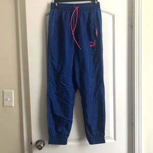 PUMA BLUE AND HOT PINK TRACK PANTS. NWT!!!